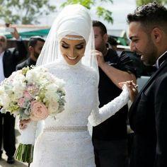 hijab, islam, and wedding image