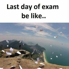 You will get happy when you finish your last exam Exams Memes, Exams Funny, Funny School Jokes, Crazy Funny Memes, School Humor, Funny Facts, Funny Pins, True Memes, True Facts