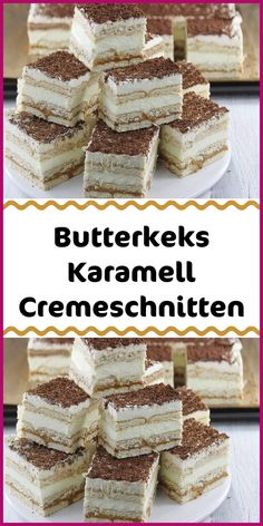 Butterkeks Karamell Cremeschnitten Ingredients 90 biscuits (butter biscuits) 1 can of condensed milk (caramel milkmaid approx. 400 g) For the cream: 750 ml milk 3 packs pudding powder vanilla - Berry Smoothie Recipe, Easy Smoothie Recipes, Easy Cake Recipes, Cookie Recipes, Easy Chocolate Desserts, Chocolate Cake Recipe Easy, Fall Desserts, Homemade Frappuccino, Pumpkin Spice Cupcakes