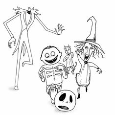 nightmare before christmas coloring pages mayoral | 62 Best The Nightmare Before Christmas images | Nightmare ...