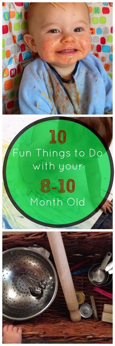 10 Fun things to do with your month old baby. These activities are great in… 10 Fun things to do with your month old baby. These activities are great interactive activities for babies, toddlers and pre-schoolers. Sensory, discovery and imaginative play Toddler Play, Baby Play, Infant Activities, Activities For Kids, Interactive Activities, 8 Month Old Baby Activities, 8 Month Old Baby Food, Baby Kind, Baby Love