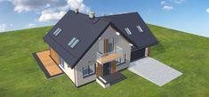 Projekt domu Galilea BIS 2M 134,15 m2 - koszt budowy - EXTRADOM