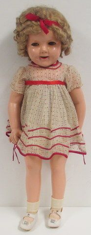 """27"""" Ideal Shirley Temple Antique Composition Doll in ORIGINAL CONDITION"""