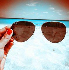 Ray Ban Aviator RB3025 Sunglasses Gold Frame Crystal Pink Polarized Lens #Rayban #Sunglasses