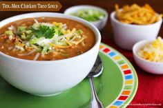 Melissa's Southern Style Kitchen: Tex-Mex Chicken Taco Soup