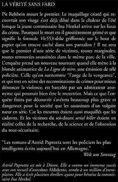 Jacqueline Chambon Noir - 2008-10 - Astrid Paprotta - La Vérité sans Fard - Verso