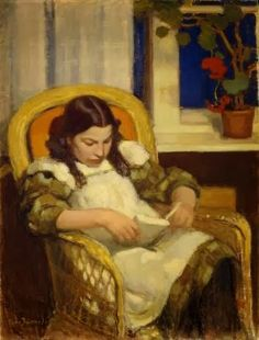 Eero Järnefelt (Finland, 1863 - 1937) ~ 'Girl reading, 1909