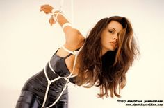 latex and rope - I just love her expression