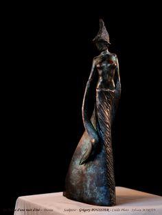 Sculpture de Grégory Poussier de la Série, Le songe d'une nuit d'été Shakespeare, Sculptures, Bronze, Fairy Queen, Night, Sculpture