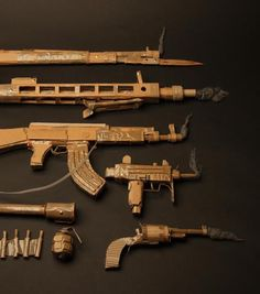 mark-obrien.co.uk - cardboard weapons