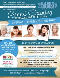 The Laser Lounge SpaS Norman Love Plaza Grand Opening Flyer