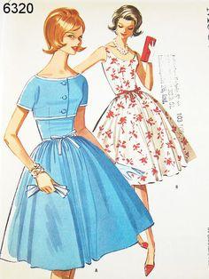 Vintage 60s Dress Pattern McCalls 6320