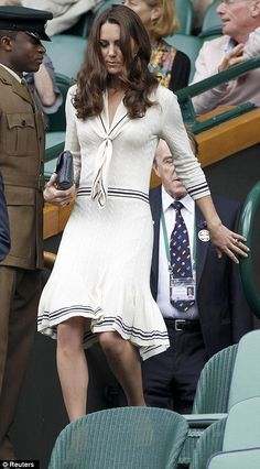 The Duchess of Cambridge in vintage-style Alexander McQueen at Wimbledon. Princess Kate is style perfection.
