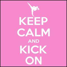 Keep Calm and Kick On- Girl's Taekwondo  T-Shirt / Taekwondo Martial Art Tee Shirt