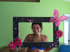 Picture Frame hearts and butterfly's for girls