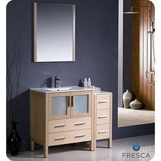 Meuble lavabo « Moderne », 48 po, gris lustré | Décoration ...