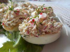 Jajka faszerowane rzeżuchą i rzodkiewką - Jajka faszerowane rzeżuchą i rzodkiewką