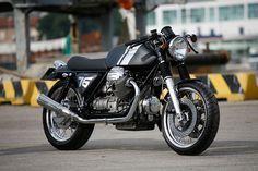 Moto Guzzi 1000 SP cafe racer build. Pretty close to my dream bike.
