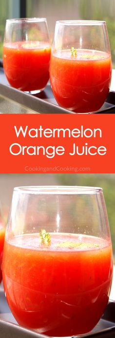 If you are bored of having the same juice every day, try this Watermelon Orange Juice recipe. A refreshing drink recipe with watermelon, orange juice and fresh mint. Fruit Juice Recipes, Summer Drink Recipes, Watermelon Recipes, Fruit Drinks, Smoothie Drinks, Fruit Smoothies, Detox Drinks, Summer Drinks, Smoothie Recipes