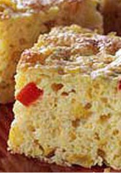 Moist Tex-Mex Cornbread — Creamy dressing, corn kernels, bell pepper, onion and green chilies transform a corn muffin mix into moist, southwest-style cornbread.