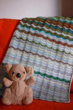 Land & Sea Baby Blanket By Kim Werker - Purchased Crochet Pattern - (ravelry)