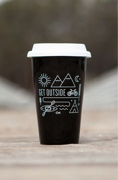 Hanging out by the campfire with this essential tumbler that pays tribute to the great outdoors.