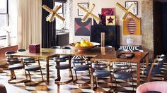 12 Top Designers Share the Best Style Lessons They Learned From Mom // Mother's Day, Kelly Wearstler, dining room by @Kelly Wearstler