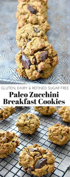 Paleo Zucchini Breakfast Cookies! Healthy and delicious breakfast that tastes like dessert! Gluten-free, dairy-free, paleo and nutritious!