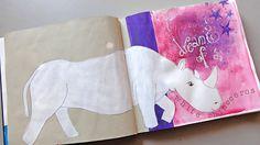 My dream of a white rhinozeros - detail