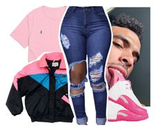 """""""How y'all doing today ?"""" by pinksemia ❤ liked on Polyvore featuring Ralph Lauren and NIKE"""