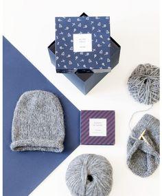 Le coffret DIY « Bonnets de famille » gris - Breaking the wool x émoi émoi sur émoi émoi