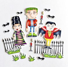 Frightful Friends stamp set and Die-namics - Suzy Plantamura #mftstamps