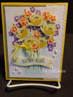 Stampinup jar of love Birthday card