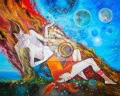 Original oil painting The kiss