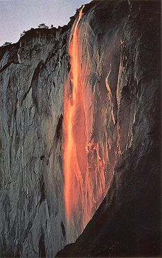 Yosemite Firefalls - I've been to Yosemite once, but need to go back in the Summer!  And Fall!