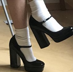 Dr Shoes, Swag Shoes, Me Too Shoes, Shoes Heels, Heels With Socks, Aesthetic Shoes, Aesthetic Clothes, Pretty Shoes, Cute Shoes