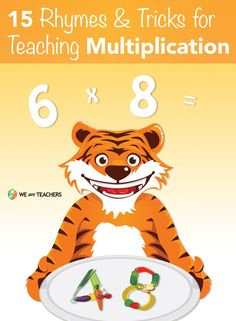 15 Rhymes and Tricks for Multiplication. Make math easier for your kids to study. Math For Kids, Fun Math, Math Activities, Educational Activities, Math Tutor, Teaching Math, Math Education, Teaching Tools, Special Education