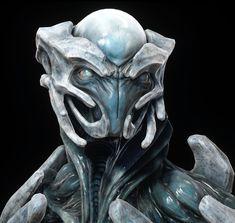 Alien research -Andromeda, Rodrigue Pralier Alien Creatures, Fantasy Creatures, Alien Character, Character Art, Space Opera, Alien Concept Art, Alien Design, Aliens And Ufos, Alien Art
