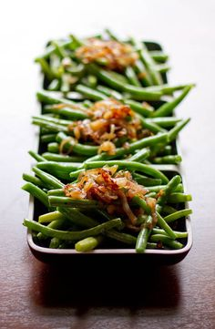 green beans with caramelized shallots!