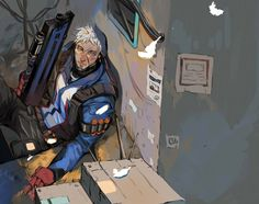 my angel [1] Overwatch Soldier76