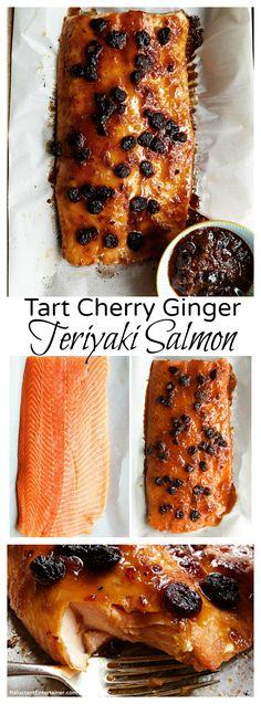Tart Cherry Ginger Teriyaki Salmon Recipe
