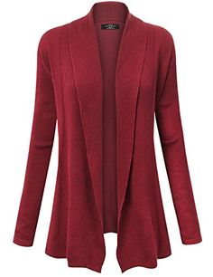 b92505ef1 MBJ Womens Open Front Draped Knit Shawl Cardigan at Amazon Women s Clothing  store