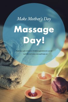 Make Mother's Day. Massage Day! Gift certificate or schedule an appointment (408)-260-2256 or svmassagetherapy.com