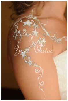 tatouage paillet par yael le henn version lgance 0620147095 - Tatouage Paillette Mariage