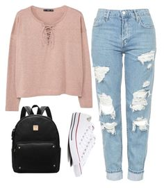 """k"" by juliesofie-larsen on Polyvore featuring Topshop, MANGO and Converse"