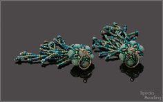 Spirala beading: Under the Sea - Earrings Designer Earrings, Under The Sea, Beading, Etsy, Beads, Pearls, Beaded Embroidery