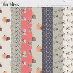FREE Fall Papers and Patterns BY Rene Blooma