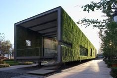 "Built by Vector Architects in Beijing, China with date 2008. Images by Vector Architecture. The project is a ""temporary"" Green Technology Showroom of 3-year use for one of CR Land's (华润置地) residential projects..."