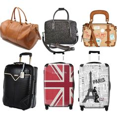 Inspired suitcases and luggage by nikka-phillips on Polyvore featuring beauty, River Island, Murano, Forever 21 and Accessorize