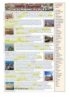Useful language: Describing Places